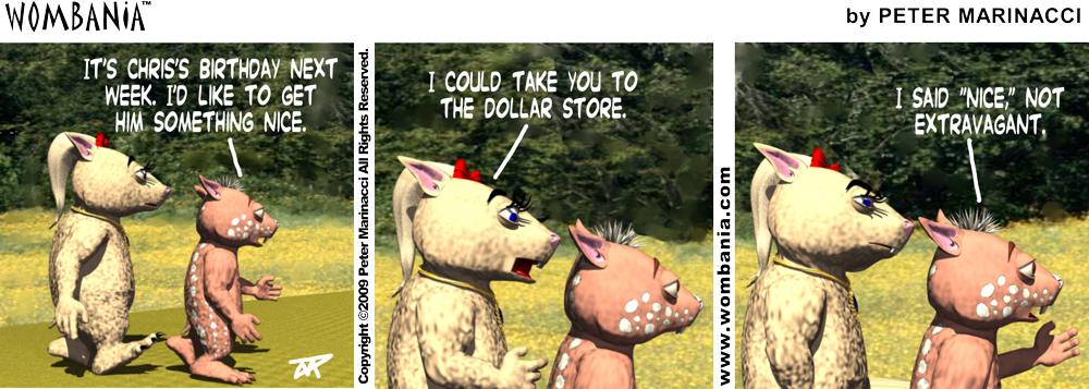 Dollar Store Present