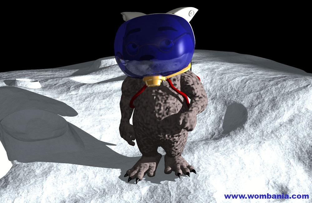 Binky on the Moon