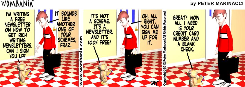 Free Newsletter Scam