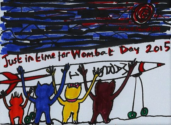 Wombat Day Rocket by Andro