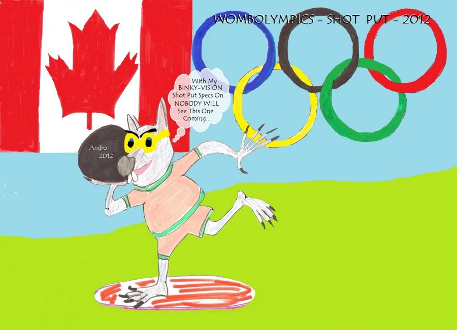 Binky In The Wombat Olympics by Androgoth