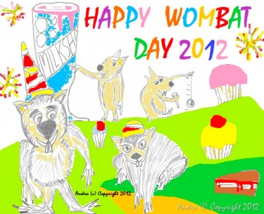 Happy Wombat Day 2012 by Androgoth