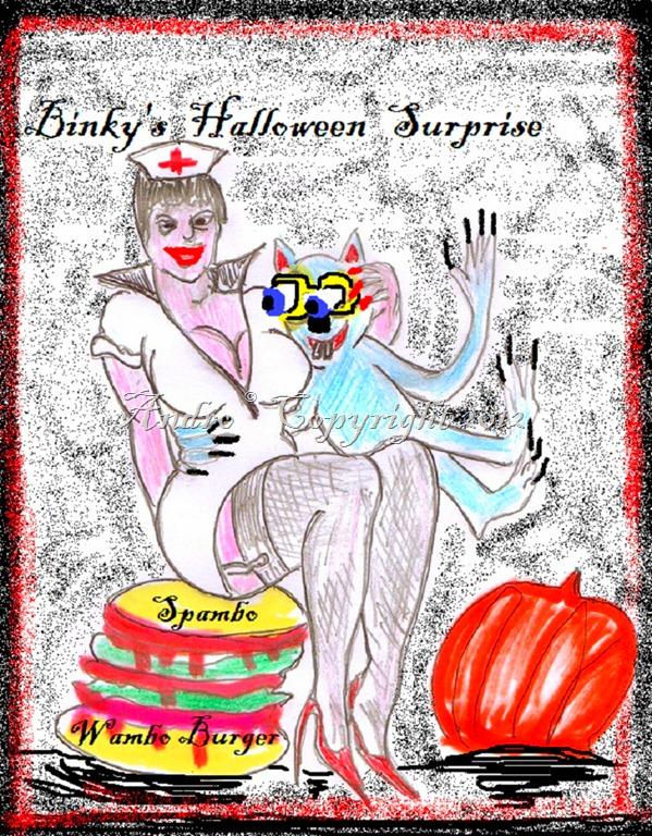 Nurse Halloween & Binky by Androgoth