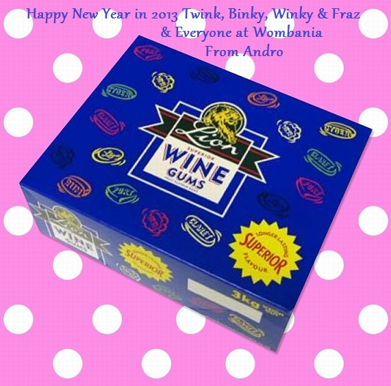 Happy New Years Wine Gums 2013 by Androgoth