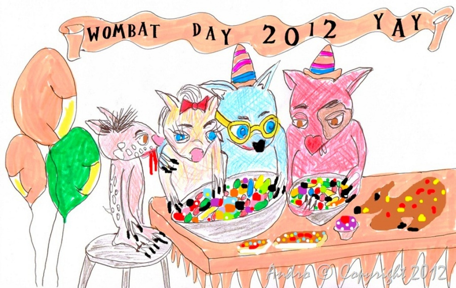 Wombat Day 2012 by Androgoth