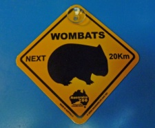 Wombat Crossing Sign from Bearman