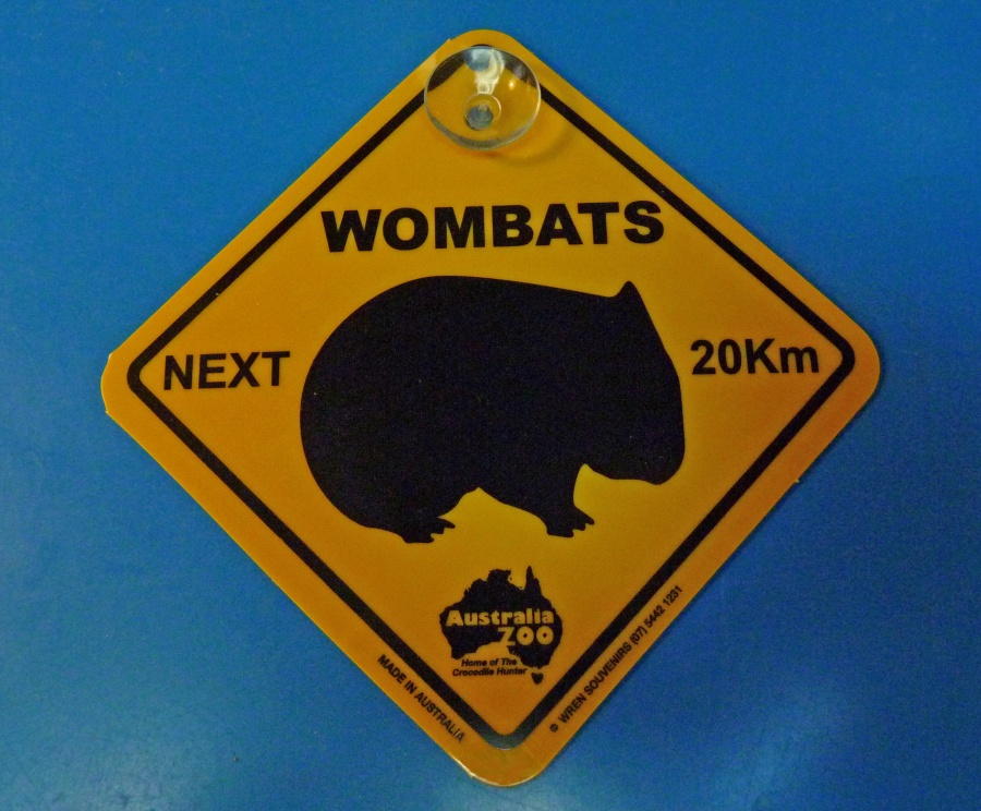 Wombat Crossing Sign from Bearman