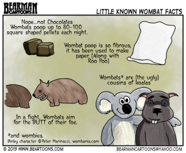 Wombat Cartoon by Bearman
