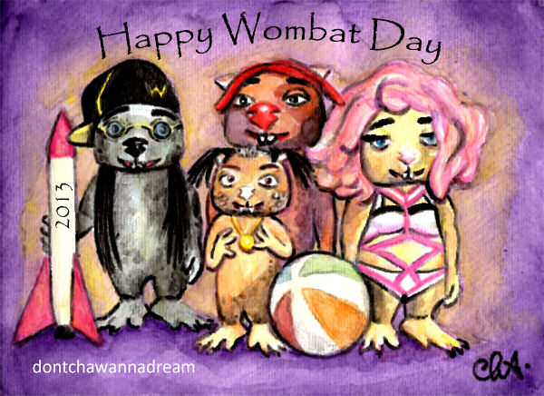 Fan art happy wombat day 2013 by cha