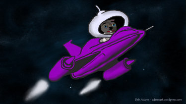 Binky Heads For the Moon by Debbie Adams