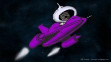 Binky Heads For the Moon by Debbie Adams