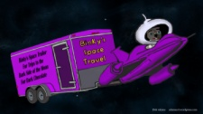 Binky's Space Trailer by Debbie Adams