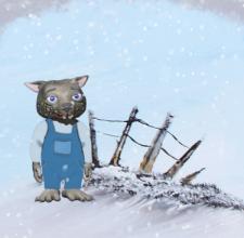 Buzz in the Snow by Debbie Adams