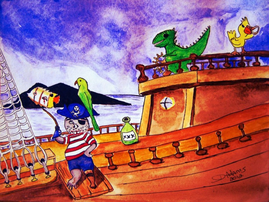 Captain Fraz and the Pirates by Debbie Adams