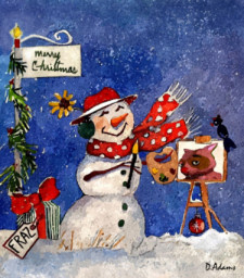 Christmas Snowman by Debbie Adams