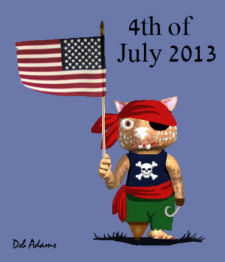 Fraz Celebrates the Fourth of July by Debbie Adams