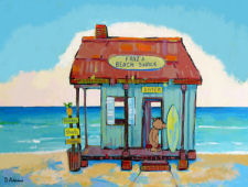 Fraz's Beach Shack by Debbie Adams