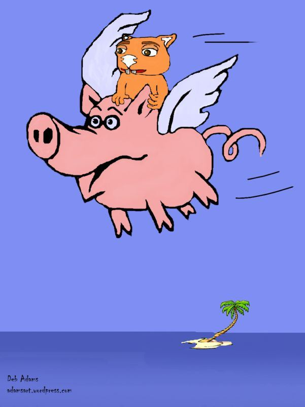 Fraz and His Flying Pig by Debbie Adams