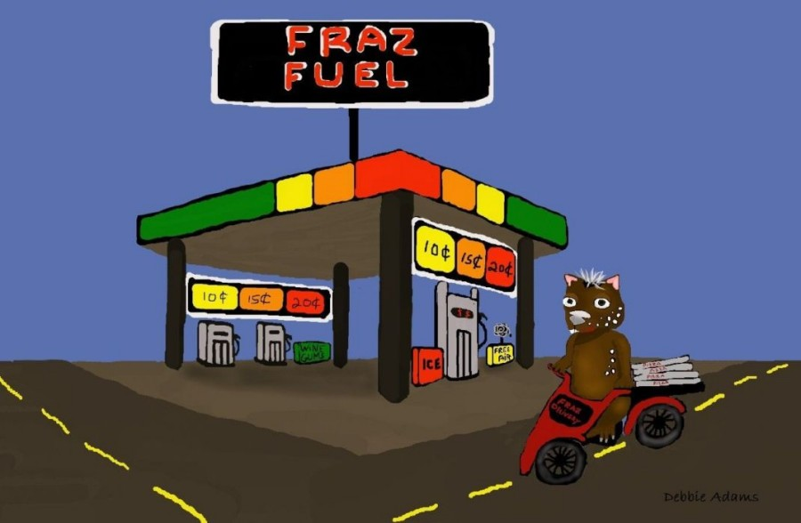 Fraz's Fuel Station by Debbie Adams