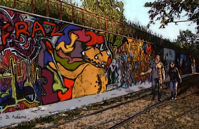 Graffiti Fraz by Debbie Adams