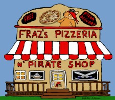 Fraz's Pizzeria and Pirate Shop by Debbie Adams