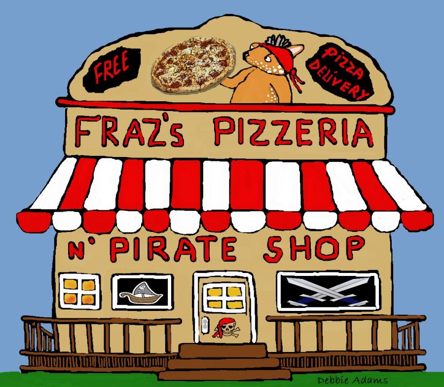 Fraz's Pizzeria and Pirate Shop by Debbie Adams