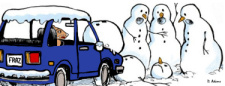 Fraz's Snowman Accident by Debbie Adams