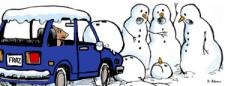 Fraz's Snowman Accident by Debbie Adams