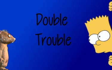 Fraz Vs Bart Simpson by Debbie Adams