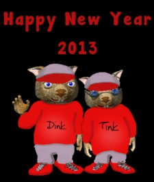 Happy New Year 2013 by Debbie Adams
