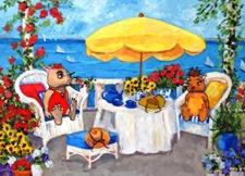 Twink's Beach House Porch by Debbie Adams