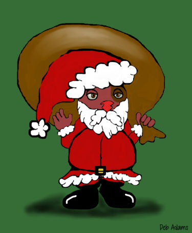 Santa Winky by Debbie Adams