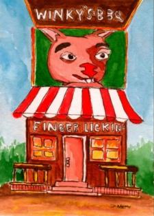 Winky's BBQ Stand by Debbie Adams