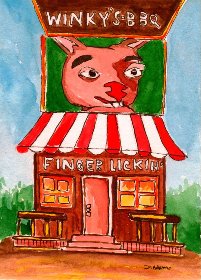 Winky's BBQ by Debbie Adams