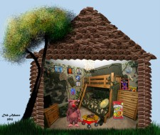 Winky's Chocolate Cabin by Debbie Adams