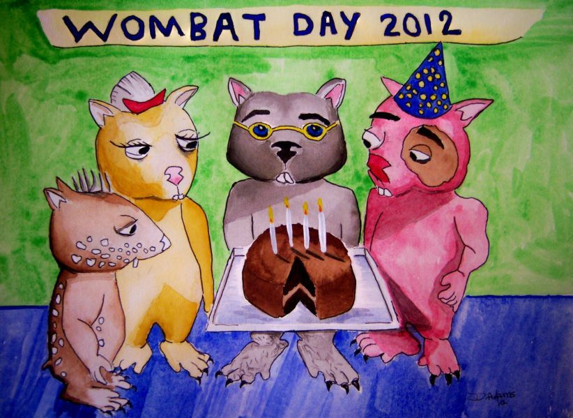 Wombat Day 2012 by Debbie Adams
