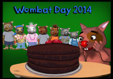 Wombat Day 2014 by Debbie Adams