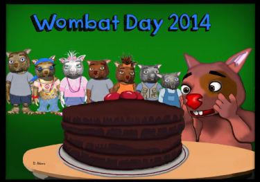 Wombat Day 2014 by Debbie Adams