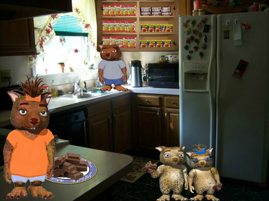 Debbie Adams' Wombie Clan In The Kitchen