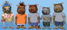 Debbie Adams' Wombie Family