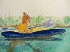 Kayaking Fraz by Doron