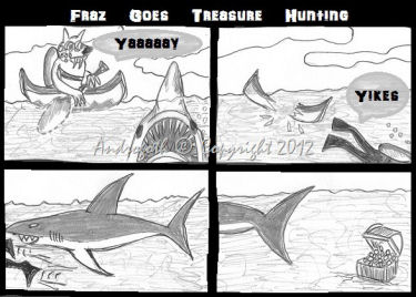 Fraz Goes Treasure Hunting by Androgoth