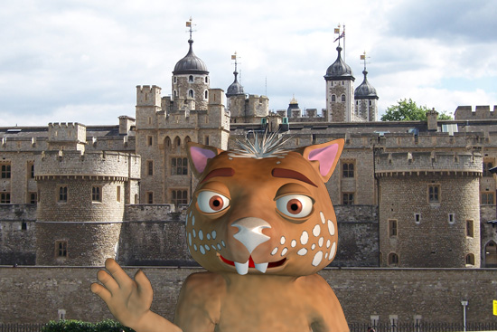 Fraz at the Tower of London