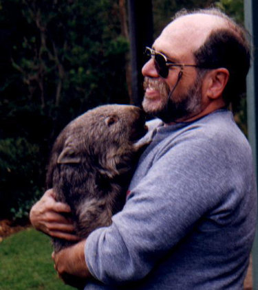 Jan Howard Finder with wombat