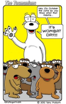 Wombat Day Cartoon 2012 by Tony McGurk