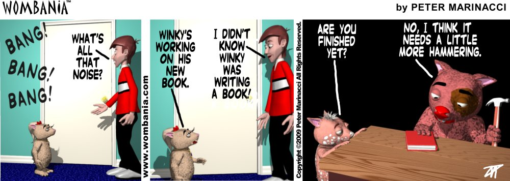 Working On Winky's Book